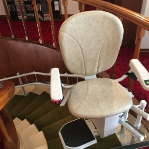 Curved Stairlift with Swivel Seat