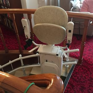 Stairlift folds away safely