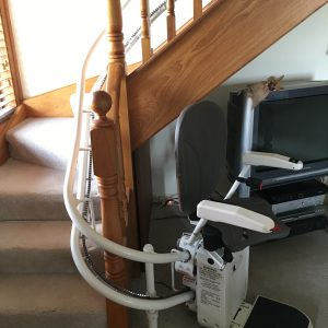 Platinum Curved stair lift with bottom park